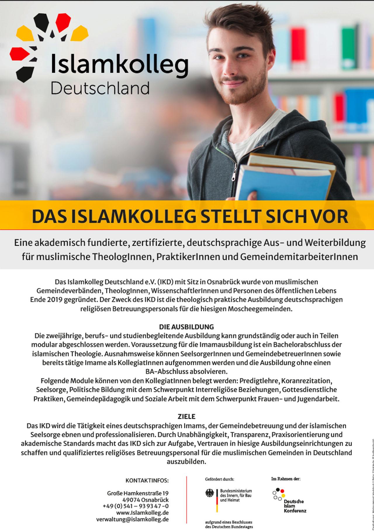 Plakat Islamkolleg Deutschland